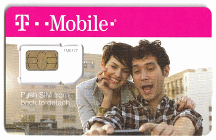 (Standard) USA T-Mobile simcard no limit 1 month service included Unlimited  text sms talk data web internet (Standard/Mini Size)